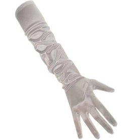 lange handschoenen zilver S M L