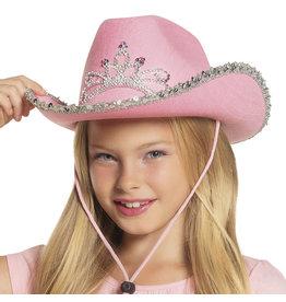 cowboyhoed kind roos met kroontje