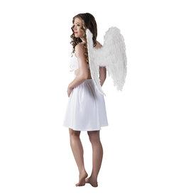 pluimen vleugels wit 65 x 65 cm