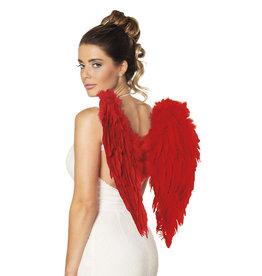 boland pluimen vleugels rood 50 x 50 cm