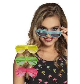 boland Partybril 4 neonkleuren