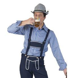 funny fashion/espa Geruit Shirt Wit/Donker Blauw