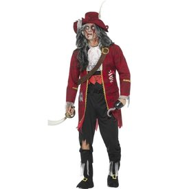 Luxe Zombie Pirate Captain Costume