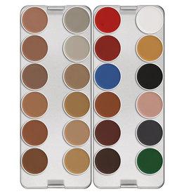 kryolan aquacolor palet N 24 kleuren