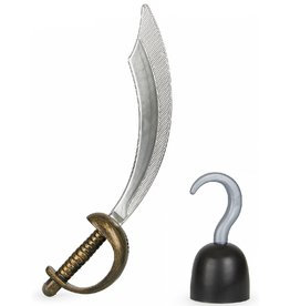 funny fashion/espa Piraatset Haak en zwaard