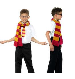 Smiffys Schoolboy Harry Potter sjaal, bril en das Maat 7-9j