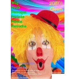 scheepers Clown pruik geel