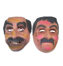 Funny Fashion Grijze mannen ass. plastiek masker