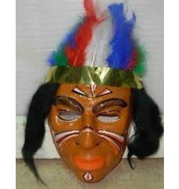 Carnival toys Indiaan plastiek masker