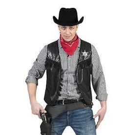 Funny Fashion Cowboy Vest Black