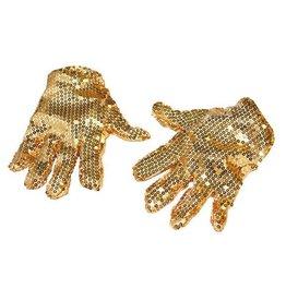 glitterhandschoenen goud