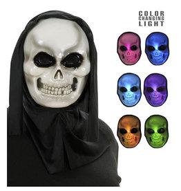 Widmann Hooded skull mask with multicolor light