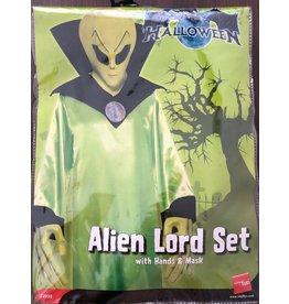 Smiffys Alien Lord set rubber masker met handen