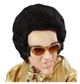 Widmann Rubber/mousse masker Elvis met haar
