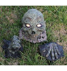 Rubies Horror decoratie rubber hoofd met handen