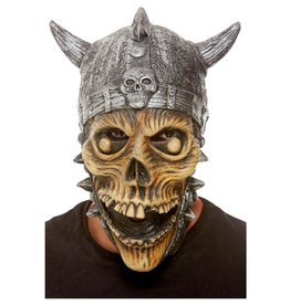 Smiffys Viking Skeleton Latex Mask, Silver