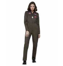 Smiffys Top Gun Lady jumpsuit Medium