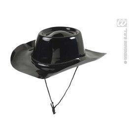 PVC cowboyhoed zwart