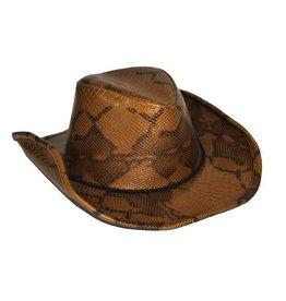 cowboyhoed slangenprint