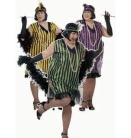 Widmann Flapper Charleston zwart/groen