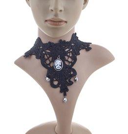 funny fashion/espa choker skull cameo