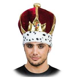 witbaard stoffen hoed kroon