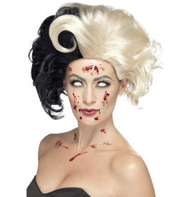 Smiffys Evil Madam wig black/blonde