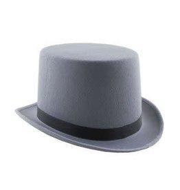 Funny Fashion hoge hoed grijs