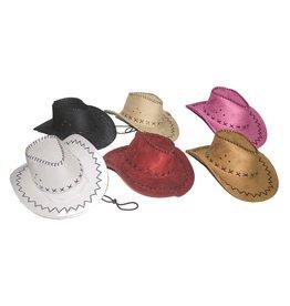 cowboyhoed daim wit
