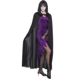 hooded vampire cape black