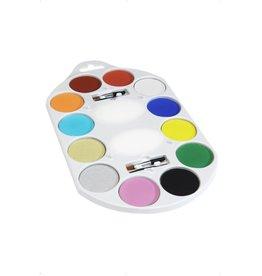 schminkpalet 12 kleuren waterschmink