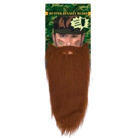 baard + snor bruin extra lang