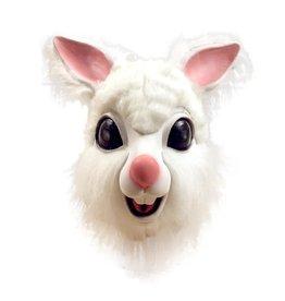 latex masker konijn met pels