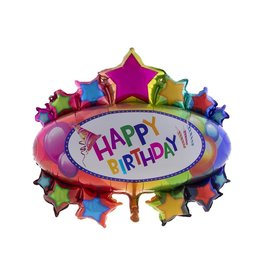 Folieballon happy birthday 90x95 cm