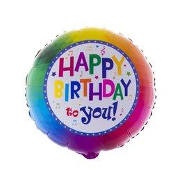 Folieballon happy birthday