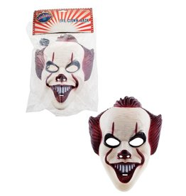plastiek masker scary clown