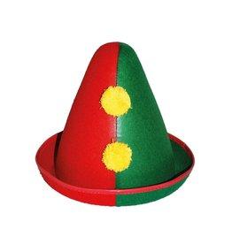 hoed clown rood groen
