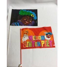 zwaaivlaggetjes Sint en Piet 25 stuks