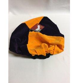 Piet Baret fluweel Paars/Oranje