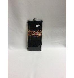 Zwarte collant XL nylon