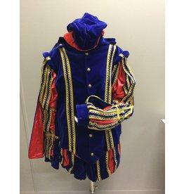 Piet fluweel met Cape Spanje Blauw Rood XL