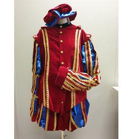 Piet fluweel met Cape Spanje Rood Blauw XL