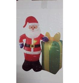 Kerstman met cadeau opblaasbaar