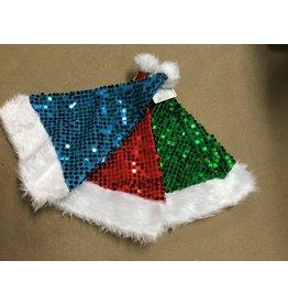 kerstmuts glitter gekleurd