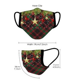 Thetru Mondmasker herbruikbaar Kerst