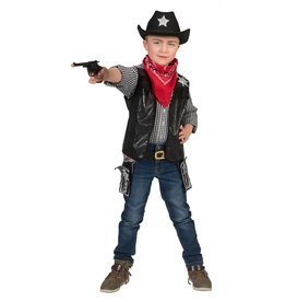 Funny Fashion Cowboy Gilet zwart