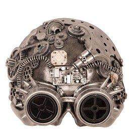 masker steampunk led zilver