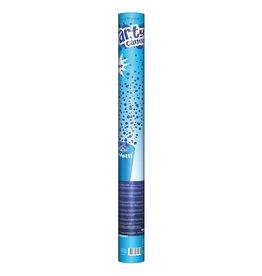 Confetti shooter 60 cm blauw