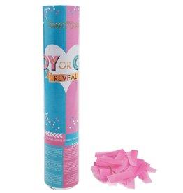confetti kanon 20 cm baby meisje gender reveal