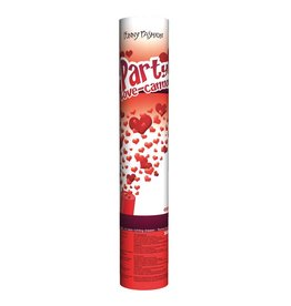 Funny Fashion hartjes confetti kanon 25 cm love